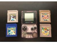Gameboy Colour with Pokemon Blue and Silver and 2 other games