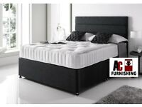 COMPLETE MEMORY FOAM BED - BRAND NEW DOUBLE DIVAN BED WITH ROYAL MEMORY FOAM MATTRESS -