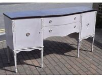 SALE! Beautiful shabby chic sideboard, French country, hand painted, grey, tv unit, cabinet