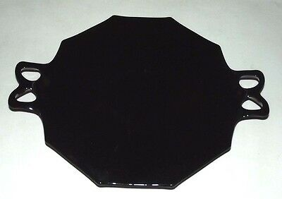 Fostoria Fairfax black handle plate