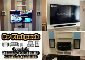 EXPERT TV WALL MOUNTING SPECIALISTS - WIRE HIDE SHELVES MIRRORS CURTAIN RAIL BLINDS - BEST SERVICE!
