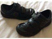 Boys Clarks shoes. Jet planes. Blue/Navy 11F and Black 12E