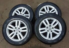 SET OF AUDI Q7 ALLOYS WITH TYRES 255/55/18