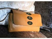 Mulberry Postman's Lock Clutch Bag in Deer Brown Glossy Buffalo leather
