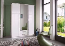 **CHRISMIS OFFER **3 DOOR GERMAN HIGH QUALITY WARDROBE WITH MIRRORS AND SHELVES