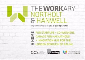 Opened now - The Workary Hanwell - hot desks & fixed desks + meeting rooms available!!!