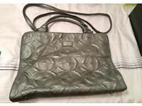 Silver laptop/project bag