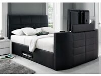 BRAND NEW TV BED::Contact us 07962374937::WITH GAS LIFT STORAGE Fast DELIVERY