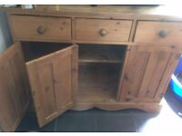 Large, Old Solid Pine Dresser. Perfect Shabby Chic Project