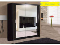 NEW STYLISH EXCLUSIVE CHICAGO SLIDING MIRRORS WARDROBE WITH LED LIGHT AVAILABLE IN 5 COLORS