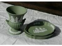 Wedgwood Grecian Urn Vase and 2 Ash Trays