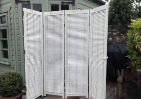 White Room Divider with adjustable louvres.