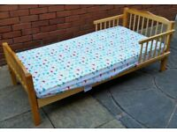 toddler / junior bed, with mattress. Good quality. In excellent condition.