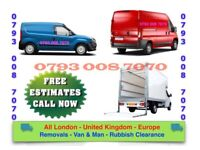 VAN & MAN HOUSE/OFFICE ANY REMOVALS SERVICES JUNK DUMP WASTE COLLECTION ANY HOUSE/ RUBBISH CLEARANCE