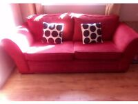 Red fabric sofa delivery avalible