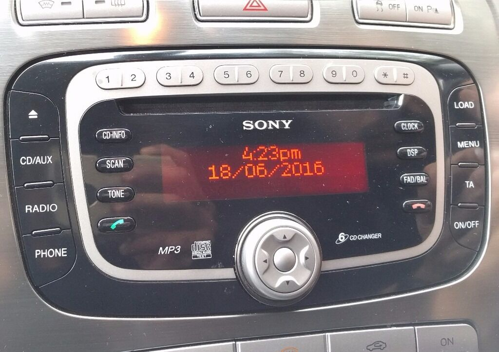 ford focus radio ford focus mk2 2007 stereo radio black. Black Bedroom Furniture Sets. Home Design Ideas