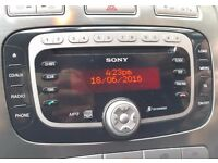 FORD SONY CD MP3 RADIO PLAYER TITANIUM STEREO FOCUS MONDEO KUGA S-MAX C-MAX GALAXY