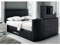 Alpha TV Bed - The UKs CHEAPEST & BEST ! With Free Open Coil Mattress
