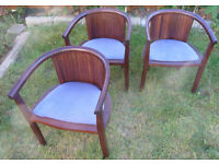 Dark Mahogany Dining Room Chairs x 4