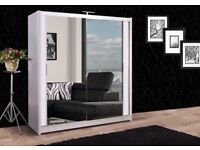 Stylish Chicago Sliding Door 203cm Wardrobe With Full Mirror or Beautifull view/Same Day Delivery