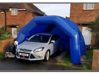 ** Inflateable shelter gazebo tent, smart repairs & 1.5hp inflator air blower **
