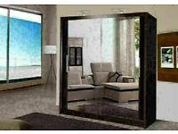 🔵💖🔴CASH ON DELIVERY 🔵💖🔴Berlin 2 Door Sliding Mirror Wardrobe -- Cheapest Price -- Same Day