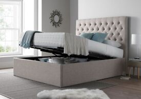 King size Ottoman Storage Bed - As new!