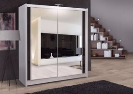 🔥🔥LIMITED TIME PROMO SALE 🔥Brand New Berlin 2 Mirror Doors Sliding Wardrobe in 5 DIFFERENT colors