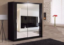 **WOW SUPERB SALE** BRAND NEW BERLIN 2 Door German Sliding Wardrobe in 4 Colours and Sizes