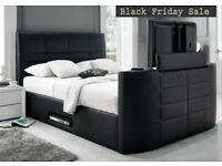 BED BRAND NEW TV BED WITH GAS LIFT STORAGE Fast DELIVERY 2AEDUE