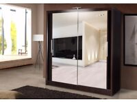 30 DAYS CASH BACK GURANTY == LARGE FULLY MIRRO DOOR ORIGNAL -- GERMAN MADE BRAND NEW WARDROBES