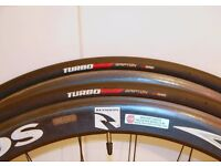 A pair of Specialized Turbo Elite Racing Bike Tires 700c 23mm RRP £50 like Continental Gatorskin