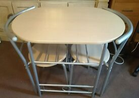 COMPACT kitchen dining table + 2 chairs