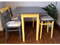 SUPER CUTE RETRO VINTAGE TABLE CHAIRS & STOOLS