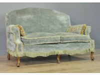 Attractive Large Vintage Stylish Upholstered Two/Three Seat Sofa Couch Settee