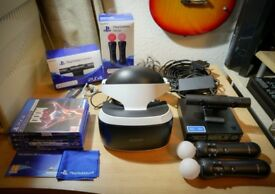 Playstation VR Bundle - PSVR - Aim Controller - Camera V2 - Twin Move Controllers