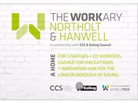 The Workary Hanwell - Join our amazing cowork community today from £65p.m - last few places left!