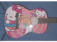 HELLO KITTY - COOL AMAZING GUITAR 3/4 SIZE CLASSICAL GUITAR