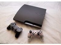 Sony PS3 with huge 600GB storage, 2 controllers, and leads.