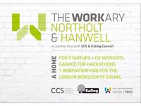 Low price coworking hub in Ealing - Hanwell - The Workary - Leave the coffee shop and join us today!