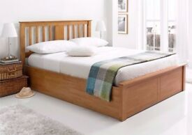 Amazing Offer!! Brand New Malmo Oak Finish Wooden Ottoman Storage Bed in Double and King Size