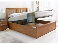 🛑⭕ORDER TODAY 🛑⭕Mattress Optoins Available - New Oak Or White Wooden Ottoman Storage Bed Frame