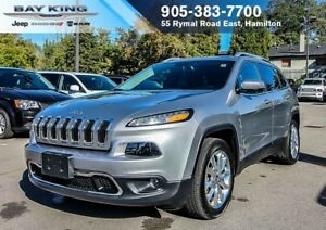 2017 Jeep Cherokee LIMITED, HTD/VENT LEATHER, REMOTE START, BACK