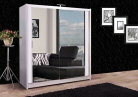BEST IN TOWN - NEW BERLIN SLIDING DOOR WARDROBE WITH FULL LENGTH MIRRORS Available IN 5 COLORS