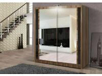 💖🔴DESIGNER FURNITURE🔵💖BERLIN 2&3 SLIDING DOORS WARDROBE IN 5 SIZES & IN MULTI COLORS-CALL NOW