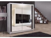 BEST SELLING BRAND -- Brand New Full Mirror 2 Door Berlin Sliding Wardrobe -5 Sizes and colours-
