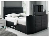 TV BED ELECTRIC BRAND NEW TV BED WITH GAS LIFT STORAGE Fast DELIVERY double bed king size bed