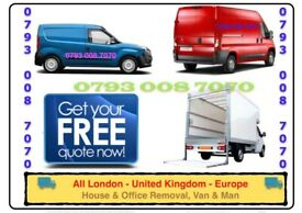 URGENT HOUSE REMOVALS VAN/ MAN MOVING SERVICE FURNITURE COLLECTION/ DELIVERY LUTON TRUCK RENT/ HIRE