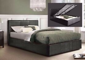 😉😎🙂COLOURS OPTION AVAILABLE😉😎🙂DOUBLE OTTOMAN STORAGE BED FRAME ( BLACK,BROWN & WHITE )😉😎🙂