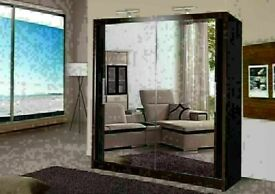 🔵💖🔴BEST QUALITY 🔵💖🔴Berlin 2 Door Sliding Mirror Wardrobe -- Cheapest Price -- Same Day